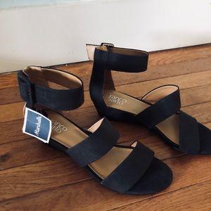 Franco Sarto dark brown sandals